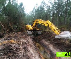 Curage et entretien de fossés forestiers - SLAT Lafitte